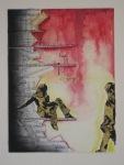 "19' x 14"" mixed media on illustration board"